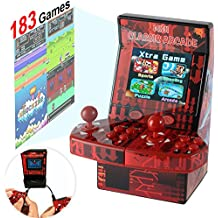 """Symfury Mini Arcade Game Kids 183 Video Game Handheld Retro Machine 2 Joystick for Boys Adults Family 2.8"""" 16 Bit Classic Basketball with Games Download Toys Portable for Travel (New Battle Version)"""