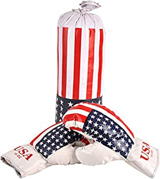 Sacco Boxe con guantoni con Bandiera Americana Gioco per