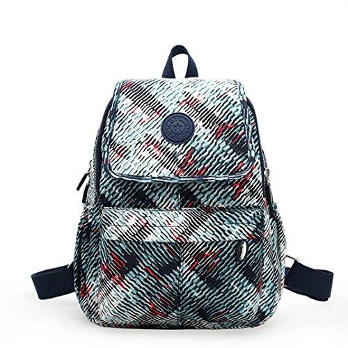 Clode® Ocio de Nylon chicas mochila mochila Colegio mochila senderismo bolso mochila Gris