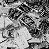 Five One Gram .999 pure Silver Bars with random designs in a jewelry pouch by Jewlmen
