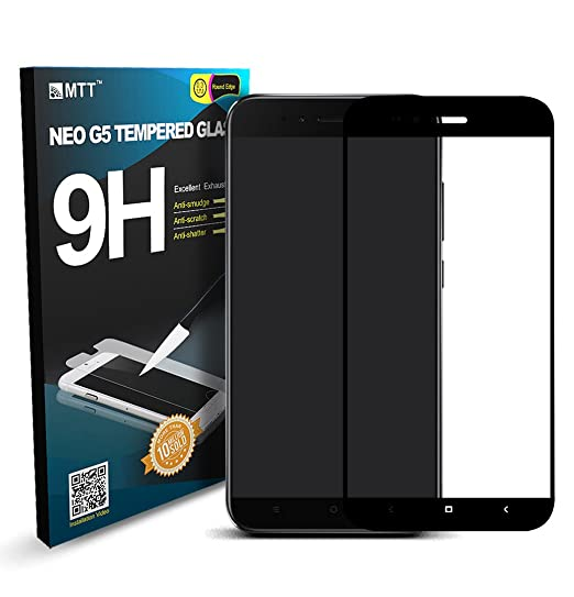 MTT Tempered Glass for Xiaomi Mi A1 (Black)