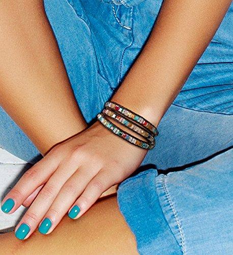 SPUNKYsoul 3 Wrap Dazzling Multi Color Crystal Leather Bracelet Collection by SPUNKYsoul (Image #1)