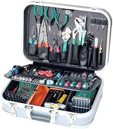 Kfdzsw Caja Herramienta 99 Piezas de reparación de Herramientas de Electricista ABS Multifuncional Caja de Herramientas de la combinación del hogar con Cerradura (Color : 1PK 2009B 1): Amazon.es: Hogar