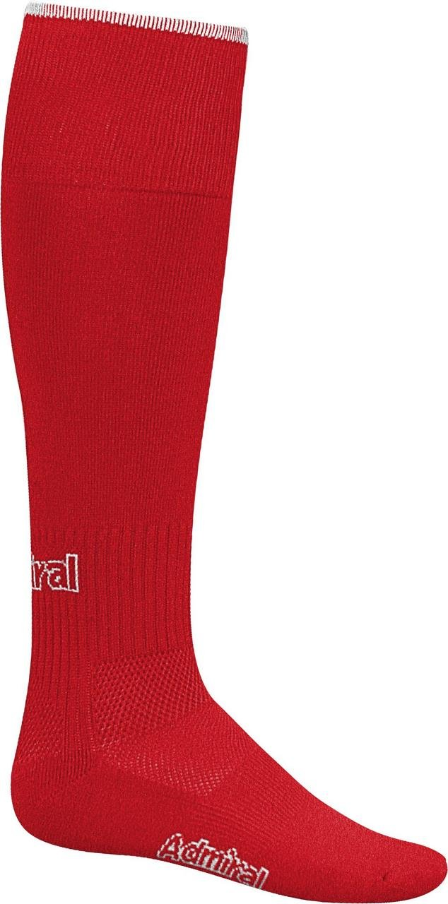 Admiral Professional Soccer Socks, Scarlet/White, Youth by Admiral