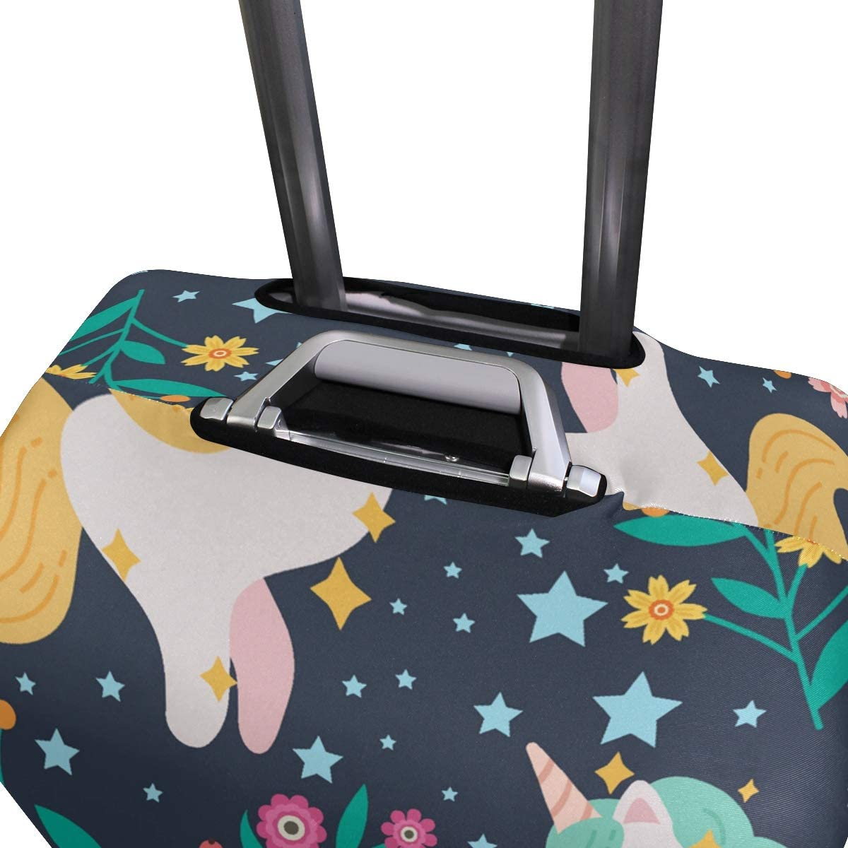 Cute Unicorn Travel Luggage Cover Spandex Washable Suitcase Protective Cover Baggage Protector Fit 18-32 inch Suitcase