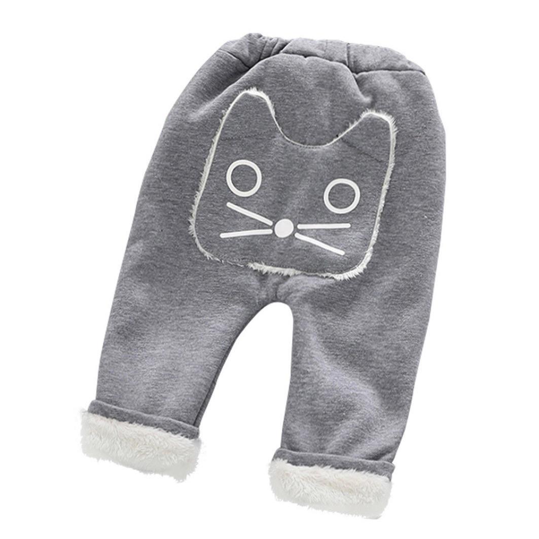 Koly 1-4 años niña niños otoño Invierno harén pantalones dibujos animados gato bebé pantalones de moldeo Linda Polainas Terciopelo bebé Animal Largo Pantalones más gruesos