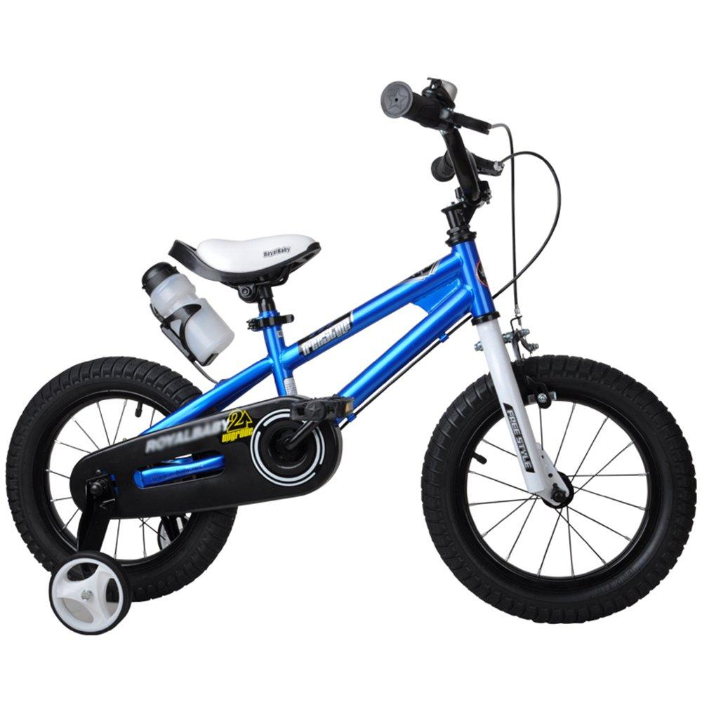 HAIZHEN マウンテンバイク 子供用自転車 ブルーグリーンオレンジレッドピンク サイズ12インチ、14インチ、16インチ、18インチ アウトドアアウト 新生児 B07C6F8F7R 16 inch|青 青 16 inch