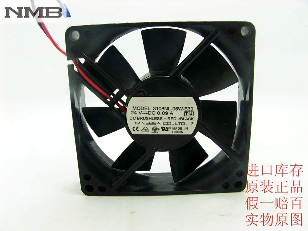 For NMB 3108NL-05W-B30 8020 8CM 24V 0.09A dual ball bearing cooling fan drive