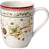 Weiß//Rot Weiß//Rot 14-8612-0930 Premium Porzellan Villeroy /& Boch Winter Bakery Delight Zuckerdose