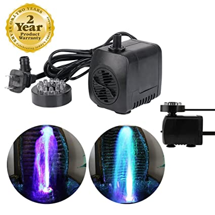 Small Submersible Pump For Indoor Fountain Amazon jfq sunsine mini submersible water pump with 12 led jfq sunsine mini submersible water pump with 12 led colorful light for indoor fountain pool workwithnaturefo