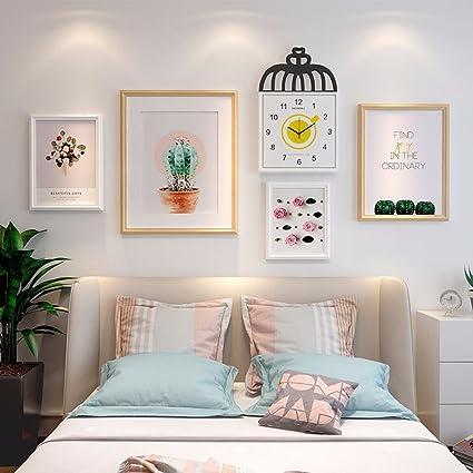 WUXK Foto ragazze parete parete minimalista moderno griglia foto ...