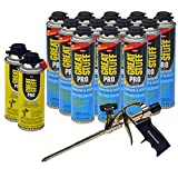 Dow Great Stuff Window and Door 20 oz Foam (12) + Pro Foam Gun (1) + Dow Great Stuff Pro foam Gun Cleaner (2)
