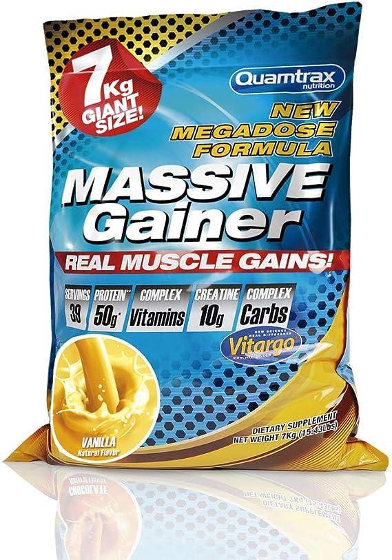 Quamtrax Nutrition Massive Gainer, Sabor Vainilla - 7000 gr