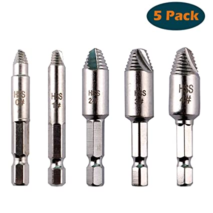 Drill Bits Analytical 5pcs Hss Remover Screw Remover Tool Kit Broken Rusted Stripped Screw And Bolt Remover Extractor Tool Sets Box