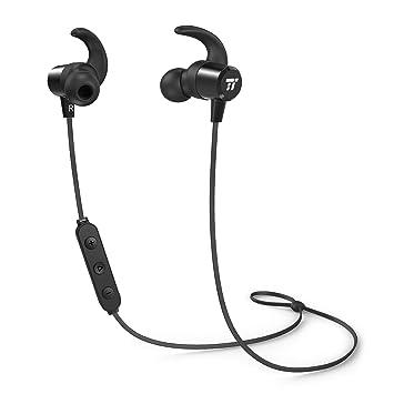 Auriculares Bluetooth Inalambricos Deportivos TaoTronics Auricular Bluetooth Magnético con Mic Estéreo 8 Horas para iPad iOS