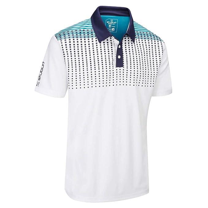 9a0f4281e Stuburt Mens 2019 Sport Tech Whixley Moisture Wicking Golf Polo Shirt:  Amazon.co.uk: Clothing