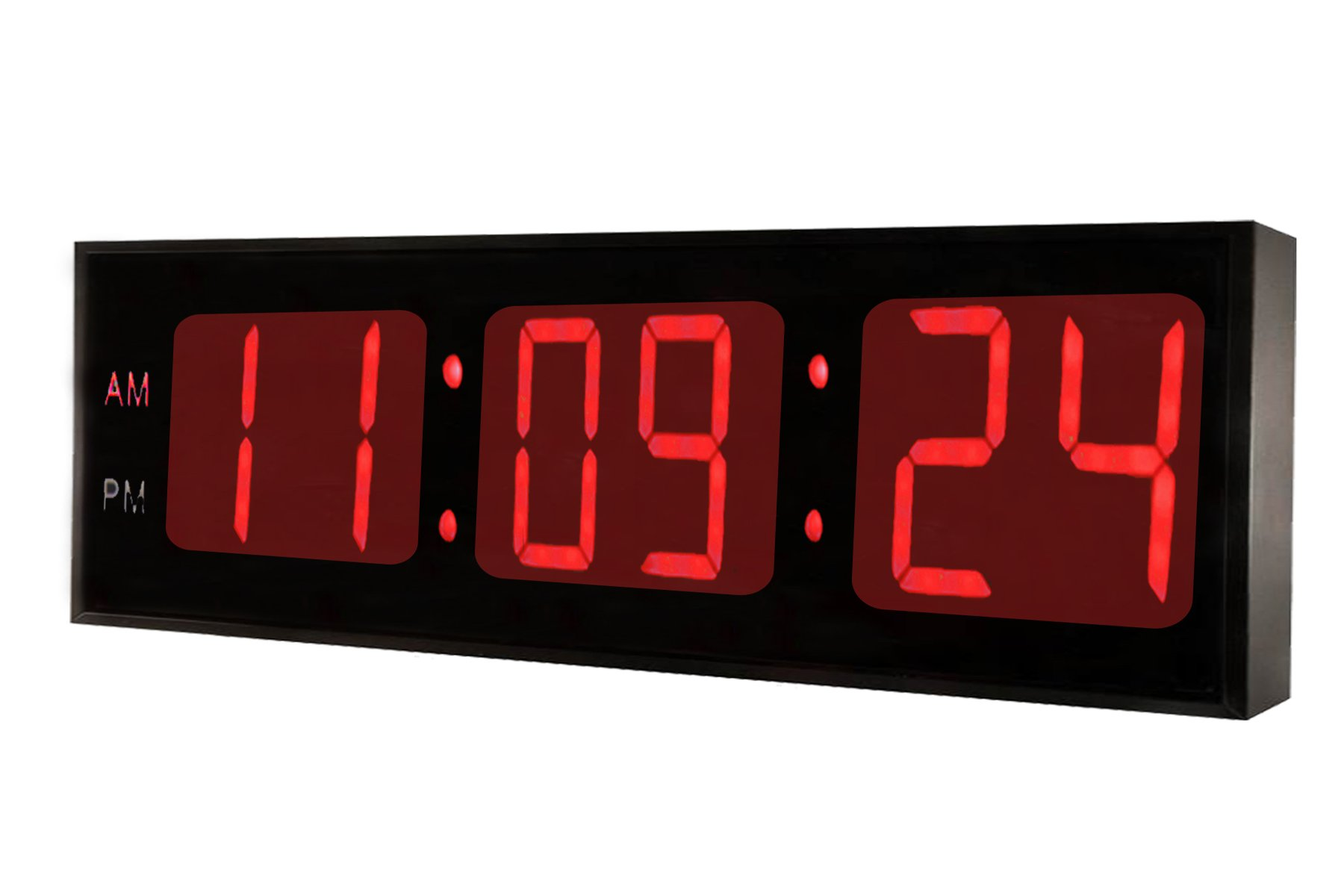 Ivation Huge Large Big Oversized Digital LED Clock - Shelf or Wall Mount (30 Inch - Red) by Ivation (Image #2)