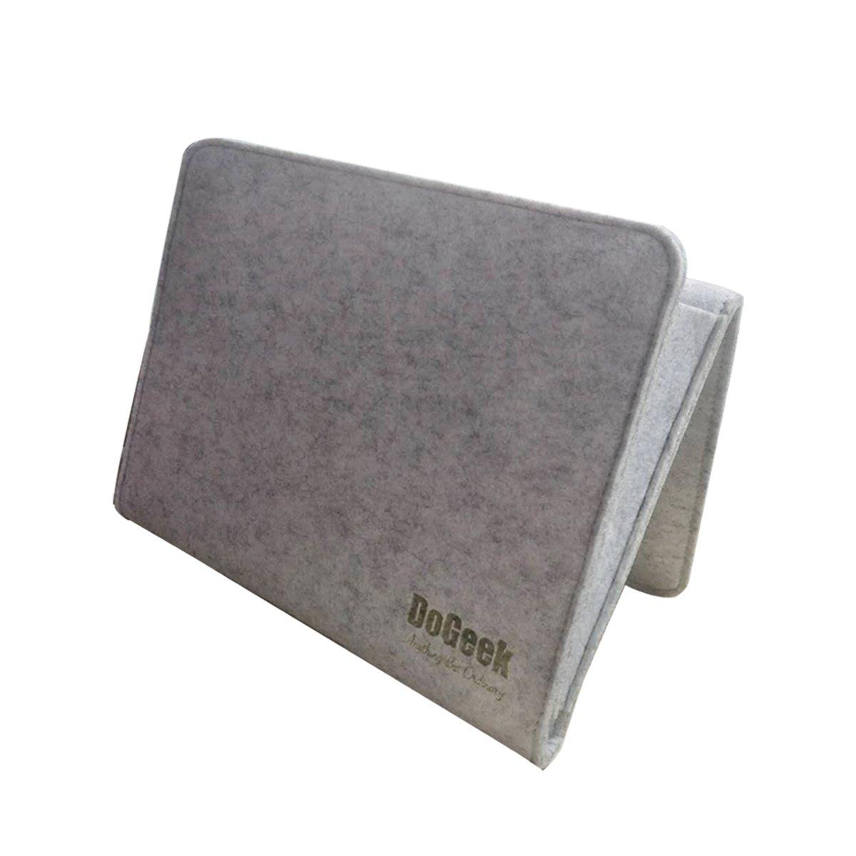 DoGeek Bedside Storage Organizer,Bedside Caddy,Sofa Storage Organizer Table Storage Organizer Tablet Magazine Phone iPad Remotes,Grey US-DG-Bedside storage- Grey