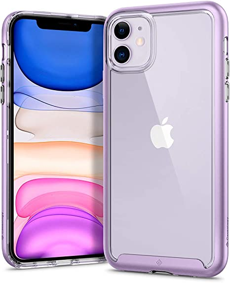 Custodia in silicone semi-rigido Trasparente Viola per Apple iPhone 7