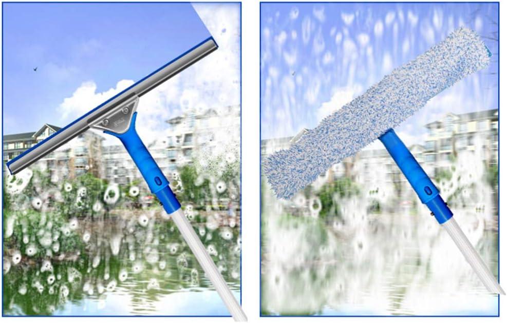 Yardwe 2 Pcs Professionnel Outil De Nettoyage des Vitres Microfibre Laveur Raclette en Verre 25 Cm Nettoyant pour Carreaux Planeur Brosse /À Laver pour La Maison Voiture