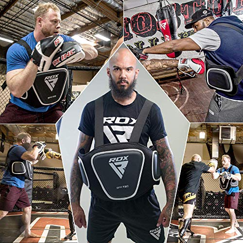 RDX Boxing Belly Pad Rib Shield Chest Guard MMA Body Protector Martial Arts Armour Taekwondo Training