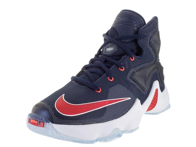 san francisco f9a7b c4f13 Nike Kids Lebron XIII (GS) Mid Navy/università Rosso/Bianco/Brght ...