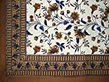 Floral Print Tapestry Cotton Spread 104'' x 72'' Twin Brown