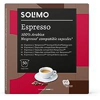 Marca Amazon - Solimo Cápsulas Espresso, compatibles con Nespresso - 50 cápsulas (1 x 50)