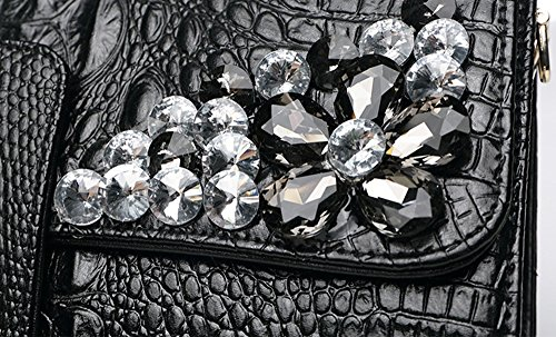 cuir Couleur de Sacs féminin diamant sac en capacité de grande américain en paquet mode Silver et à à en main Or cuir main européen sacs dîner rEwgBrq