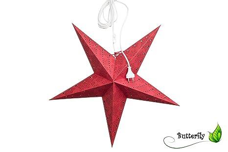 Addobbi Natalizi Di Carta.1 Pezzi Stelle Di Carta Rossa Stelle Di Natale Set Addobbi Natalizi