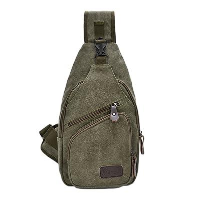 3309232dbd07 ENKNIGHT Sport Chest Bag Sling Bag Canvas Hiking Pack Travel bag Army Green