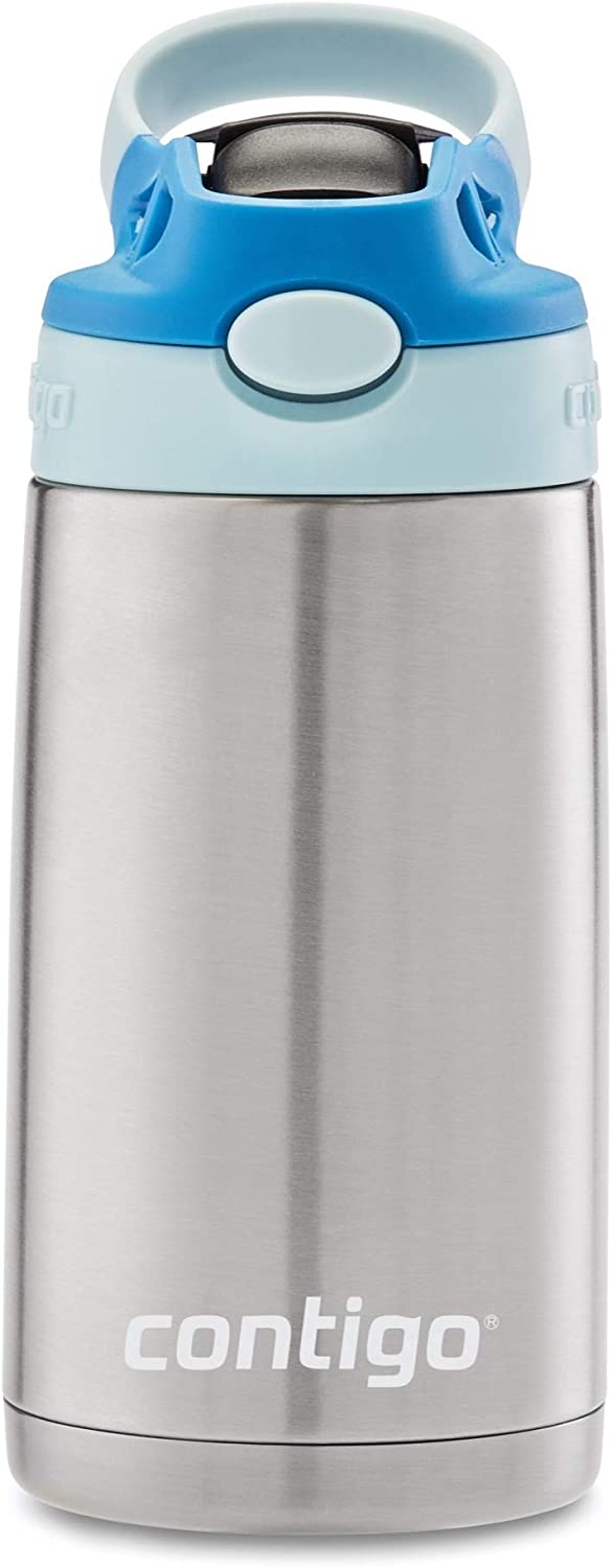 Contigo Kids Stainless Steel Water Bottle with Redesigned AUTOSPOUT Straw, 13 oz, Cotton Candy & Gummy