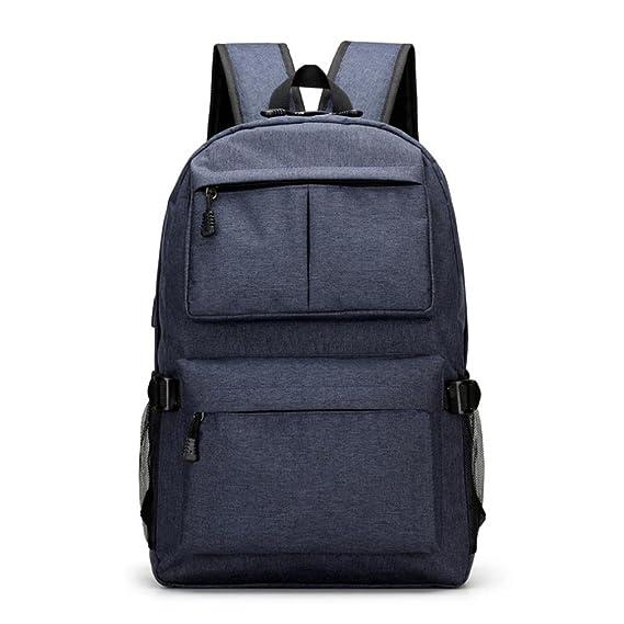 mochilas hombre deportivas para Portátil, Mochila impermeable Backpack Daypack Multiusos con puerto de carga USB, escuchando música Mochilas Escolares ...