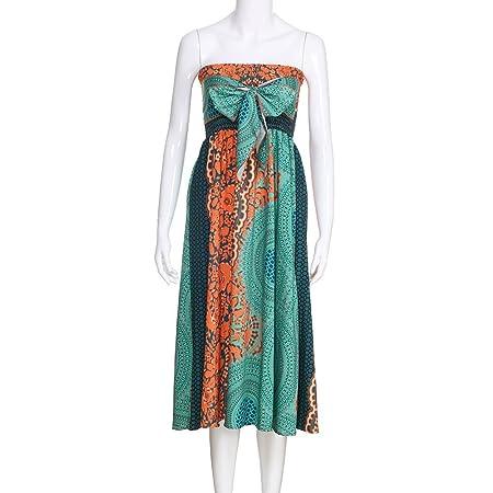 Amazon.com: Falda larga hippie bohemia gitana con cintura ...
