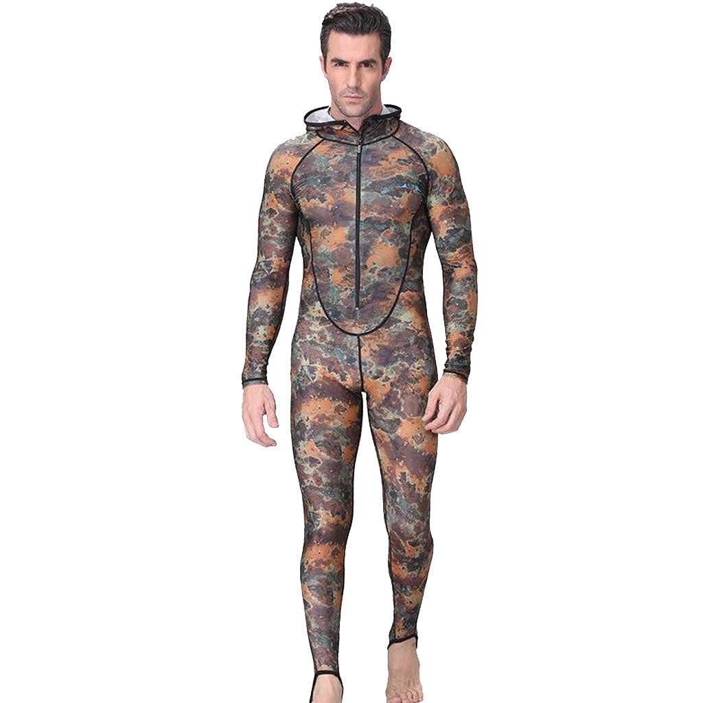 Allywit New Men Camouflage Camo Wetsuit for Scuba Freediving Spearfishing Swimming Jumpsuit Plus Size