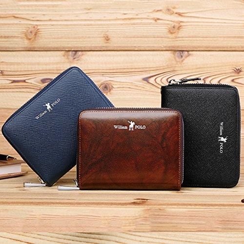 7ab0be55c912 WILLIAMPOLO 財布 本革 薄型 メンズ レディース 多機能 カード入れ ブランド 大容量 収納便利