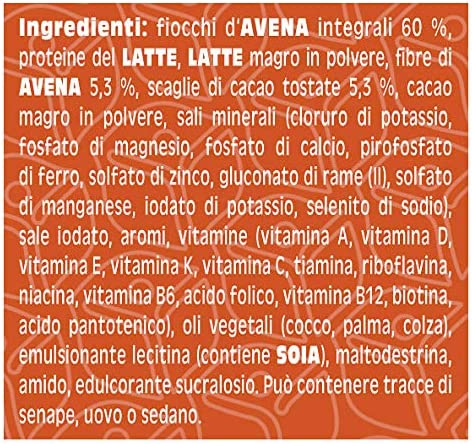 Primavita - Gachas de avena dietéticas sustitutivas de comidas, sabor a turrón de praliné, 65 g