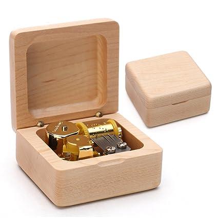 XYTMY - Caja de música (acabado de madera clásico, para