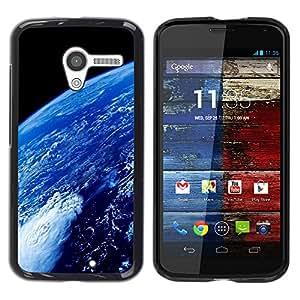 Paccase / SLIM PC / Aliminium Casa Carcasa Funda Case Cover para - Popular Earth Atmosphere Blue Planet Space Ocean - Motorola Moto X 1 1st GEN I XT1058 XT1053 XT1052 XT1056 XT1060 XT1055