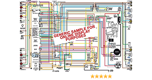 amazon.com: full color laminated wiring diagram fits 1972 pontiac gto lemans  tempest wiring diagram: automotive  amazon.com