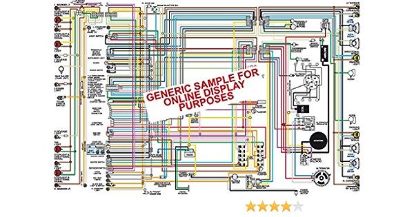 Amazon.com: Full Color Laminated Wiring Diagram FITS 1966 Chevy Chevelle  Malibu &; El Camino Large 11