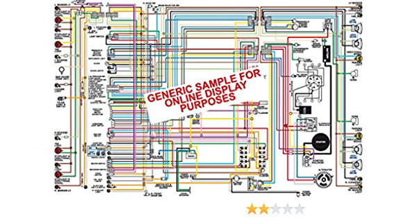 Full Color Laminated Wiring Diagram FITS 1974 Plymouth RoadRunner &  Satellite Large 11