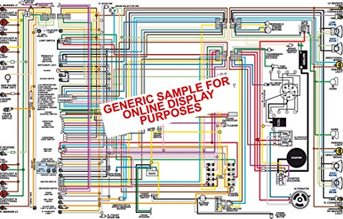 Full Color Laminated Wiring Diagram FITS 1969 Plymouth Belvedere Roadrunner GTX & Satellite Large 11