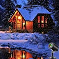 Christmas LED Projector Light Star Laser Landscape Projector Light Waterproof Outdoor Garden Spotlight for Christmas Party Disco Wedding Birthday Decoration