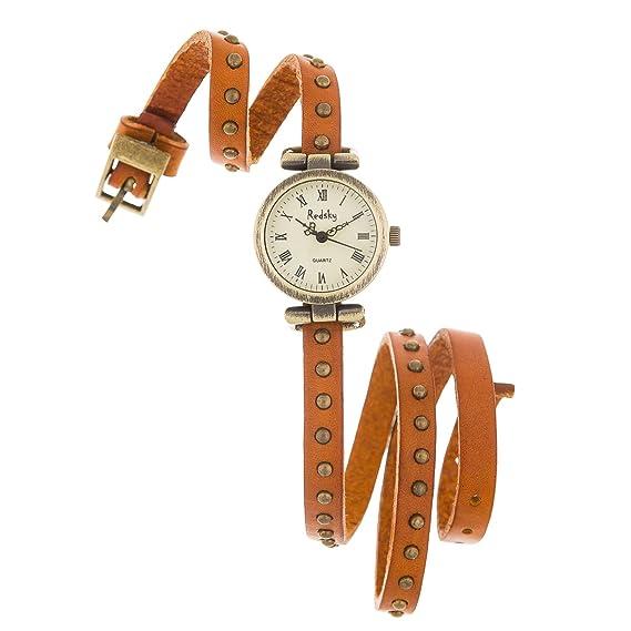 Reloj de Mujer de Moda con Correa de Cuero de Alta Calidad Regalo Perfecto (RXL02