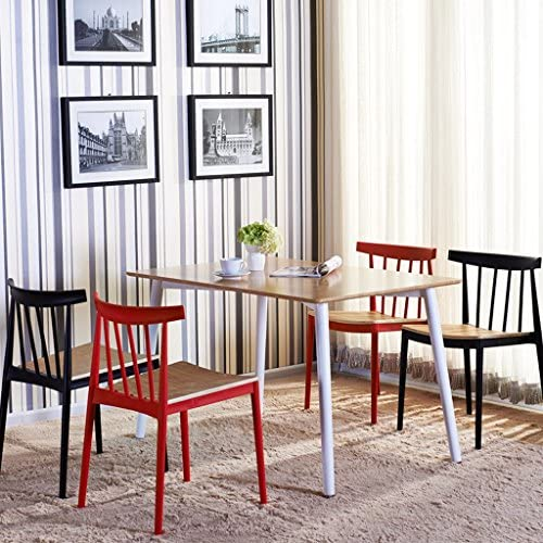HWL Moderne Minimaliste Occasionnel En Plastique À Dîner Chaise Restaurant Négociation Chaise Chaise De Bureau Café Table Et Chaise Rouge