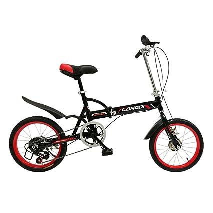 XQ Bicicleta Plegable de 16 Pulgadas Adultos Bicicleta Plegable de 6 Velocidades Variables Ultraligero Amortiguación Hombres