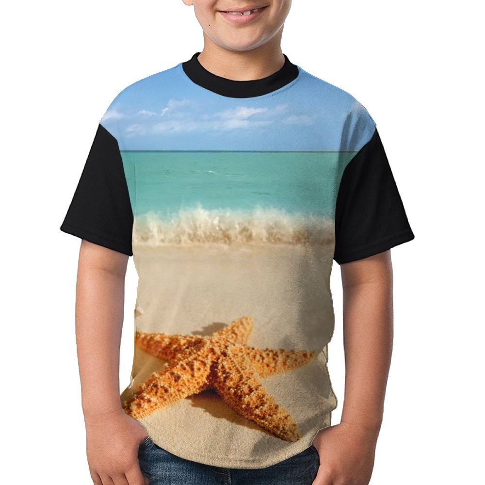 HandsomeT Starfish Shell Conch Youth Personalized Short-Sleeved T Shirts Comfortable T Shirt