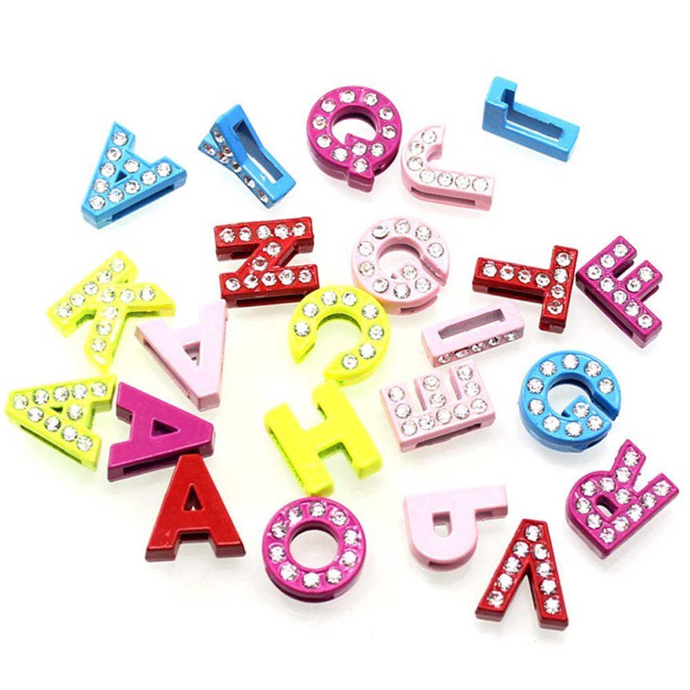 130 Pcs iloveDIYbeads Spacer Beads ABC Letter//Alphabet Letter A-z Charms Alphabetic Pendant,DIY Crafts Charms for Personalization Jewelry Making Accessory for DIY Necklace Bracelet,Set of 5 M143