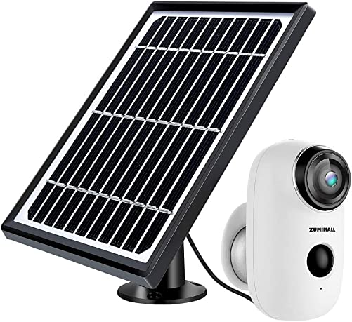 Solar Powered Wireless Indoor Outdoor Camera, Rechargeable Battery Powered Home Security System, Night Vision, 1080P HD Video with Motion Detection, 2-Way Audio Talk WiFi Camera, IP65 Waterproof
